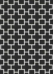 Alfombra Wilton - Brussels Silver (negro)