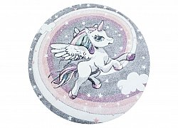 Alfombra infantil - Atlas Unicorn Rund (multicolor)
