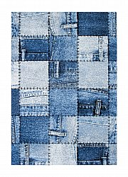 Alfombra 160 x 230 cm (wilton) - Indigo Denim Patch (azul)