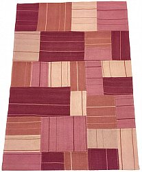 Patchwork-matta - Superior new wool Patchwork (rosa)